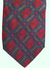 Michael Jacobs 100% Silk Tie~Made in USA~Burgundy, Blue, Green Check Design(#55)