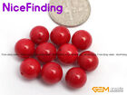 8mm Half Drilled Red Pink Coral Stone Beads For Jewelry Making Ring Earring Gift