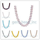14mm Briolette DIY Jewelry Makings Crystal Glass Rondelle 5040# Charm Beads