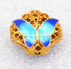 7x16mm cloisonne beads Buddhist butterfly character Jewelry accessories gifts 5