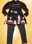 GIRLS DARK GREY KITTY CAT PRINT WINTER PARTY KNIT TOP & LEGGING