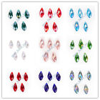 10x20mm Teardrop Charms Faceted Pendant Glass Crystal Jewelry Beads 40 Colors