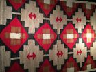 Beautiful Navajo Rug with neat orange-brown crosses, c1930, NR!