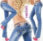 Sexy Women's Boot leg cut Jeans Hot Stretch Denim Size 4 6 8 10 12 XS S M L XL