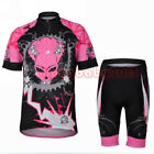 Women Bike Bicycle Cycling Clothing Quick Dry Short Sleeve Jersey + Shorts Suits