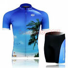 Men's Light Bike Bicycle Cycling Clothing Short Sleeve Jersey + Bib Shorts Set