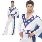 Evel Knievel Mens Licensed Fancy Dress Costume Sizes M,L