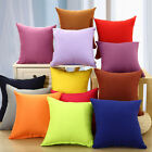 """New Solid Suede Nap Cushion Cover Home Decor Bed Sofa Throw Pillow Case 18""""x18"""""""