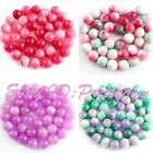 """10mm Smooth Round Shape Candy Jade Gemstone For DIY Jewelry Making Beads 15""""/Lot"""