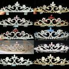 SALE Bridesmaid Flower Girl Prom Crystal Silver Plated Headband Tiara Xmas T039b