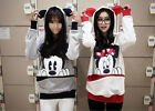 New Cute Girls Womens Mickey Mouse Ear Emo Sweater Jumper Hoodie Comfortable