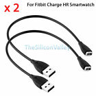 2x USB Charging Charger Cable Cord for Fitbit Charge HR Wristband Smartwatch