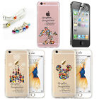Famous Kids Cartoon Disney Novelty Crystal Silicone Cover Case For iPhone Series