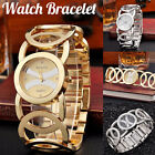 Waterproof Watch Bracelet Luxury Rings Hollow Stainless Steel Women Quartz Watch