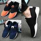 Korean Fashion Men's Sneakers Casual  Mesh Athletic Running Canvas Shoes