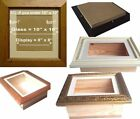 Large 3D Shadow Box Deep Glass Picture Frame Display Case Medals casts