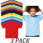 3-PACK-SG tshirts Tops-Kids-Childrens Heavweight T-Shirt-Short Sleeve tshirt