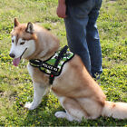 Dog Harness Vest for Husky Medium Large dog breeds Camouflage Red Black Nylon