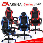 Pro Video Gaming Chair Adjustable Swivel Recliner Leather With Without Footrest
