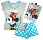 Womens Disney Minnie Mouse Dreamer Polka Spot Shorty Pyjamas Plus Sizes 8 to 22