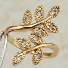 Size5.5 6.5 7.5 Awesome Nice Tree White CZ Jewelry Yellow Gold Filled Ring R2475