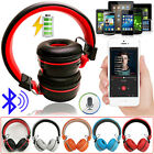 Foldable Wireless Bluetooth HiFi STEREO Headphones Headset For iPhone Samsung PC