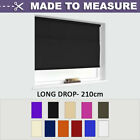 MADE TO MEASURE - [Long Drop] STRAIGHT EDGE ROLLER BLINDS - 210CM DROP