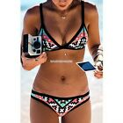 Bikini Set Push-Up Women's Swimsuit Triangle Padded Bra Swimwear Bandeau Bandage