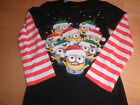 New Girls Despicable Me Christmas Minion Long sleeve T Shirt size XS