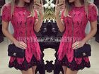 Fashion Women's Summer Party Short Sleeve Dress Style Evening Party Lace Dresses