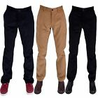 Gabicci Mens Cotton Classic Corduroy Trousers Button Zip fly Pants Size 30R-38L
