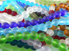 Внешний вид - 2 Strand Sea Glass 10mm Round Beads You Pick Color