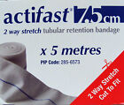 Actifast 2 way stretch tubular bandage 7.5cm BLUE  (CHOOSE LENGTH)