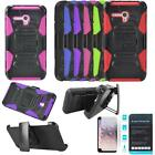 Phone Case For Alcatel Flint 4g - (Cricket) Tempered Class Screen Holster Cover