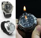 Cool Military Lighter Gas Cigarette Cigar Lighter Refillable Butane Wristwatches