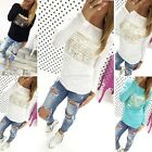 Fashion Womens Loose Pullover T Shirt Long Sleeve Cotton Tops Shirt Blouse EN24H