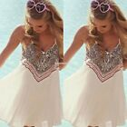 Boho Women Sleeveless Party Evening Cocktail Summer Beach Short Mini Dress EN24H