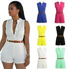 Bodycon Women's Jumpsuit Sleeveless Sexy Clubwear Playsuit Trousers Romper W3Q5