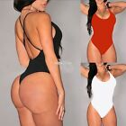 Sexy Women Sleeveless Swimwear Ladies Bodysuit Leotard Top Backless S0BZ