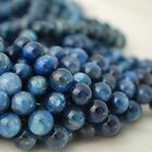 Grade A Natural blue Kyanite Semi-precious Gemstone Round Beads 4mm 6mm 8mm 10mm