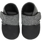 Gray Tweed Baby Booties Shoes Toddler Infant Pre-Walker and Walker Size Slip-On