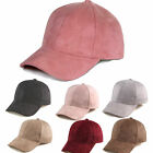 Unisex Solid Luxurious Suede Polo Baseball Cap Trucker Sports Hat Strapback RD