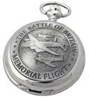 BATTLE OF BRITAIN MECHANICAL POCKET WATCH A E Williams WW2 Remembrance Gift NEW