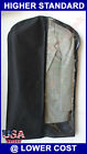 "50Pcs 24x54"" Two Tone Clear + Non Woven Zipper Garment Bag White Apparel Storage"