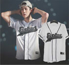KPOP EXO EXO?rDIUM T-shirt Button Down Baseball Jersey Tshirt Chanyeol Baekhyun