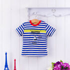 Bebini Summer Clothes 6-48M 100% Cotton T-shirt Infant Kids Baby Boy Blue stripe