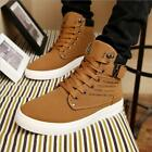 Men Shoes Fashion Lace Up Tenis Shoe Casual High Top Shoes Canvas Sneakers - LD