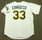 JOSE CANSECO Oakland Athletics 1989 Majestic Throwback Home Baseball Jersey