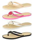 Ladies Spot on flip flop toe post with heart front detail. F0784