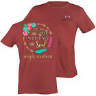 Simply Southern Women's Short Sleeve T-Shirt Preppy Soul Brick
